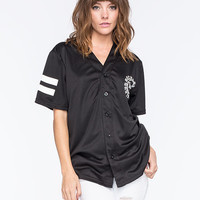 Young & Reckless Disturbed Womens Baseball Jersey Black  In Sizes