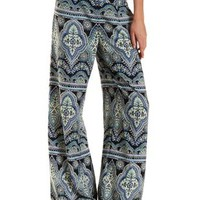 Multi Printed High-Waisted Palazzo Pants by Charlotte Russe