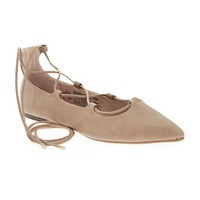 Old Navy Lace Up Pointed Flats