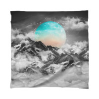 It Seemed To Chase the Darkness Away (Guardian Moon / Winter Moon) Scarf / Mini Wall Tapestry created by soaringanchordesigns | Print All Over Me