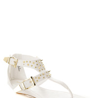 Bamboo Spiked Thong Sandals