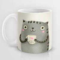 I♥kill (brown) Mug by Lime
