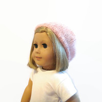 Pink Doll Beret 18 Inch Doll Accessories