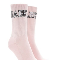 Babe Graphic Crew Socks