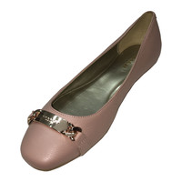 Coach Bianca Flat Leather Shoes in Warm Blush, Size 8-1/2