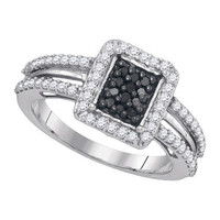 Diamond Fashion Ring in Sterling Silver 0.55 ctw