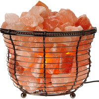 Himalayan Natural Crystal Salt Basket Lamp