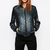 Blingbling Sequined Outwear Coats