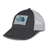 Mudder Trucker Hat in Asphalt Grey, High Rise Grey & Blue Coral by The North Face