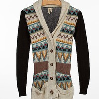 BKE Jacquard Cardigan Sweater