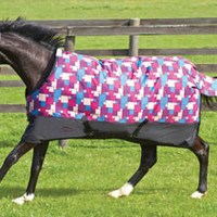Saddles Tack Horse Supplies - ChickSaddlery.com Weatherbeeta Genero 1200D Standard Neck Medium Weight Blanket - Mosaic Squares <>