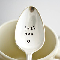 dad's tea, teaspoon-silver plated-father's day gift- gift for dad.
