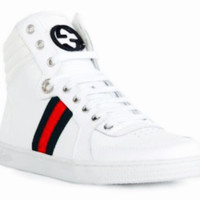 Men's Gucci Leather High Tops
