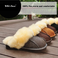 High Quality Home Slippers Women and Men 2016 Winter Fur Warm Indoor Slippers Men Shoes Brand Pantufa