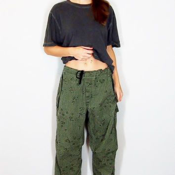 Vintage Digital Camo Military Over Pants, Small, Camouflage Army Pants