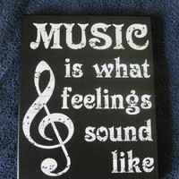 Music is Canvas Sign | Canvas Decal | Sheetmusic Print