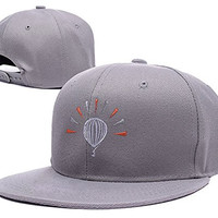 ZZZB Modest Mouse Symbol Logo Adjustable Snapback Embroidery Hats Caps - Grey