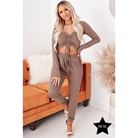 You Know The Drill Two Piece Set (Taupe)