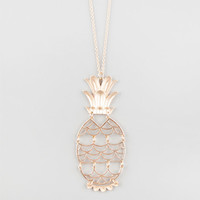 Full Tilt Cut Out Pineapple Necklace Gold One Size For Women 25582162101