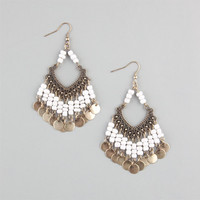 Full Tilt Filagree Beaded Earrings Gold One Size For Women 23459462101