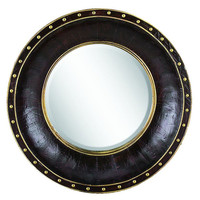 Mirrors, Luxe Wall Mirror, Black/Gold, Wall Mirrors