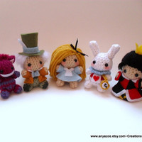 Alice in Wonderland Amigurumi Set
