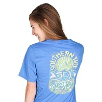 Sun, Sea & Sand Tee in Blue Stream by Southern Tide