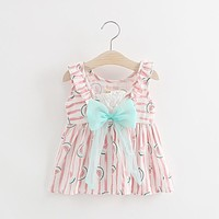 Kids Baby Dress 2017 cute baby girls Birthday Dress Casual Ruffles Watermelon printing Baby Girl Clothes Princess Tutu Dresses
