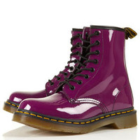 DR MARTENS 8 Eye Patent Boots - Sale  - Sale & Offers
