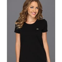Lacoste S/S Scoopneck T-Shirt Black - Zappos.com Free Shipping BOTH Ways