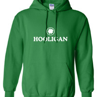 Hooligan pub Irish fight bar scotland saint st. Patrick's Paddy's ireland scottish Hoodie Hoody Sweatshirt Mens Ladies Womens mad ML-285h