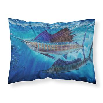 Wide Open Sailfish Fabric Standard Pillowcase JMA2011PILLOWCASE