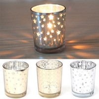 Mosaic Glass Candle Holders Tealight Votive Cup For Wedding Home Party Decor New GRA