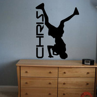 Custom Breakdancer Decal - Personalized - Wall Art - Kids Room - Custom Kid Name - Custom Decal - Gift Idea - Kids Room Decor - Playroom