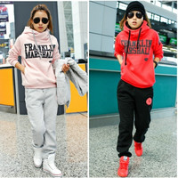 Winter Thicken velvet two-piece suit Korean style fashion womens keep warm hoodies sweater M/L/XL = 1931876228