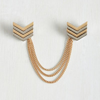 Pointed in the Right Reflection Collar Pin by ModCloth