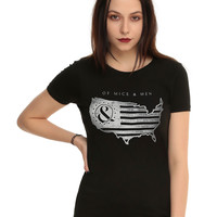 Of Mice & Men USA Girls T-Shirt
