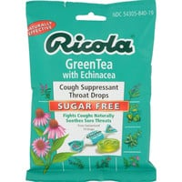 Ricola Sugar Free Green Tea Cough Drops With Echinacea - 19 Drops - Case Of 12