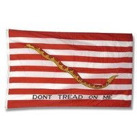 """First Navy Jack """"Don't Tread On Me"""" Flag"""