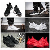 2016 air Huarache IV Running Shoes For Men & Women, Black White High Quality Sneakers Triple Huaraches Jogging Sports Shoes
