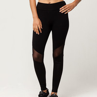FULL TILT Mesh Scuba Womens Leggings | Leggings