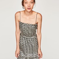 SHIMMERY DRESS WITH THIN STRAPS DETAILS