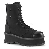 Grave Digger 10 Black Metal Toe Plate Lace Up Zipper Ankle Boots Men US