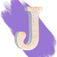 """24"""" Letter J Lighted Marquee Letters (White Gloss)"""