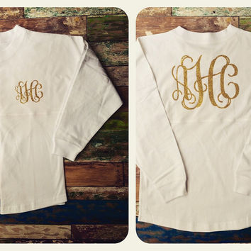 Monogramed Long Sleeve Oversized Jersey, Monogram Sweatshirt, Monogrammed Long sleeve T shirt, Team Discounts, Fall Style