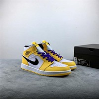 "Air Jordan 1 Mid ""Lakers"" - Best Deal Online"