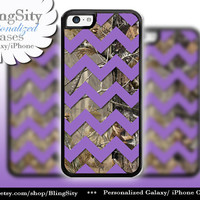 Monogram iPhone 5C 6 6 Plus Case Camo Purple Chevron iPhone 5s iPhone 4 case Ipod 4 5 case Real Tree Personalized Country Inspired Girl