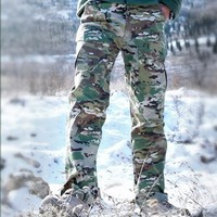 SPring M2 Tactical Camouflage Army Pants  Waterproof SWAT Combat Military Cargo Pants Hunting Hiling sport Outdoor Trousers
