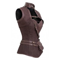 Brown Steampunk Corset and Jacket