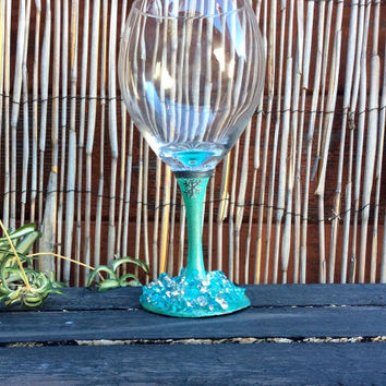 Queen Elsa Wine Glass